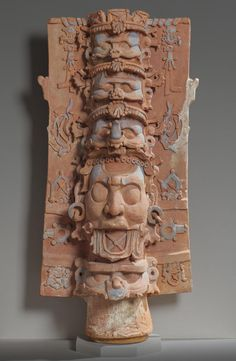 Censer Stand with the Head of a Supernatural Being with a Kan Cross | Kimbell Art Museum