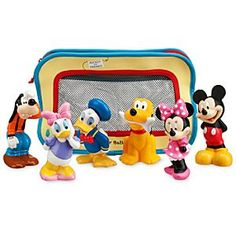 Disney Mickey Mouse and Friends Bath Toys for Baby | Disney StoreMickey Mouse and Friends Bath Toys for Baby - Here's a whole collection of best pals for bathtime play - Mickey, Minnie, Donald, Daisy, Goofy and Pluto too! All together in a cute bag that attaches to the tub, these toys will bring lots of joy!