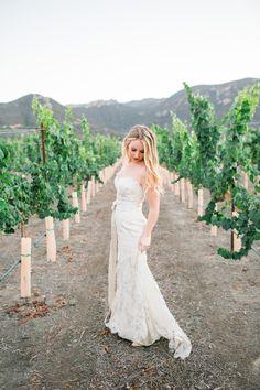 Romantic Hidden Valley Vineyard Wedding Styled Shoot