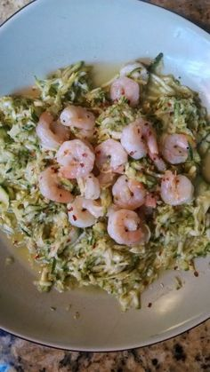 21 Day Fix - Skinny Shrimp Scampi and Zucchini Noodles