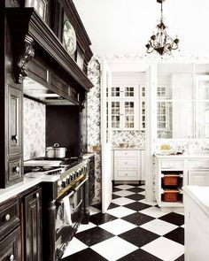 Black & white kitchen by ZombieGirl