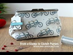 How to sew a clutch purse with metal frame ( Part 2 of 2) - YouTube