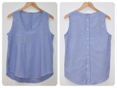 Re-purposed from a mens shirt, tutorial not in English though. mamemimo: wiksten tank top azul - #azul #English #homme #mamemimo #Mens #purposed #Repurposed #shirt #tank #though #Top #tutorial #wiksten
