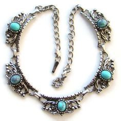 Hey, I found this really awesome Etsy listing at https://www.etsy.com/listing/171567623/vintage-faux-turquoise-choker-link