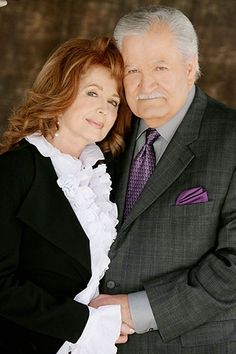 Days Of Our Lives John Aniston and Suzanne Rogers Victor and Maggie Kiriakis