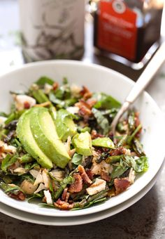 Chicken Bacon Avocado Salad | pinchofyum.com