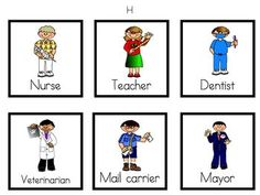 Community Helpers Unit for PreK, Kindergarten, or 1st Grade - with lesson plans, writing paper, and centers materials