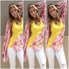 << KIMONO BABE >> Obsessed with our @oliveandoaknyc kimono. Paired with our basic @lamadeclothing tank and ripped white @dittosbrand denim  Modeled by @laynexelizabeth  CALL US TO HOLD OR SHIP #941.312.2439  #malibufox #boutique #boho #beachbabes #gypsy #fashion #girly #srq #sarasota #shoes #bradenton #florida #shopping #universityparkway #utc
