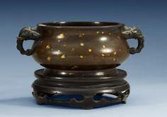 ~~Gold Splashed Bronze Censer~~ ~~~~~~~~Qing Dynasty~~~~~~~~