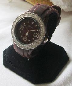 Luxury Platinum Chocolate Clear Crystal Big Womens MENS watches Watch #Geneva #Luxury
