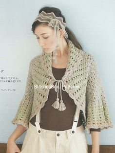 Crochet Cape Bolero Pattern for Women - Japanese Crochet PDF Pattern - 120278-05