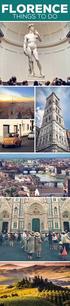 Sightseeing tips and things to do in Florence, Italy: Galleria dell'Accademia | Michelangelo's David | Ponte Vecchio | Cathedral Santa Mario del Fiore | Piazza della Signoria | More on my blog: How To Travel Italy By Train - A First Timer's Guide incl. Things To Do And Places To Stay (just click on the image) via @Just1WayTicket | Interrail Eurail Europe Train Travel Firenze