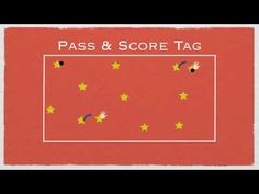 ▶ P.E. Games - Pass & Score Tag - YouTube Ok so i only have dodge balls... so red balls are it, blue balls are freeers