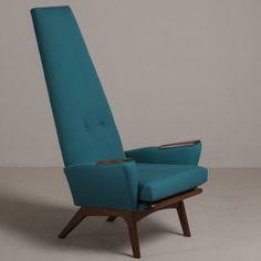 Talisman A Walnut Framed Highbacked Armchair by Adrian Pearsall 1960s -
