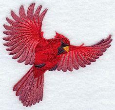 Flying Cardinal design (E8341) from www.Emblibrary.com