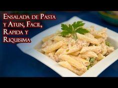 . Ensalada de pasta y atún, fácil, rápida y deliciosa - YouTube #atún #deliciosa #Ensalada #Ensalada de macarrones #fácil #pasta #rápida Chicken, Meat, Youtube, Food, Al Dente, Pasta With Tuna, Pasta Salad, Snap Peas, Pasta Recipes