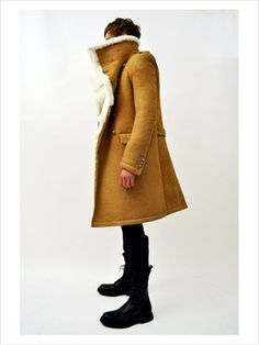 BALMAIN Oversized Shearling Coat