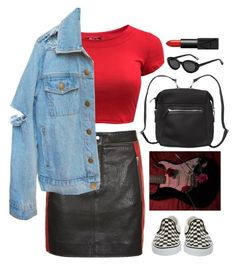 """""""Two Evils"""" by brigi-bodoki ❤ liked on Polyvore featuring Topshop, Vans, Monki, Elizabeth and James and NARS Cosmetics"""