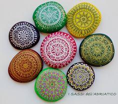 Mandala painted rocks by maga Merlina