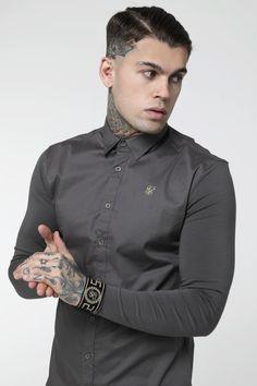 L/S Standard Cartel Jersey Sleeve Shirt – Dark Grey Tattoed Guys, Stephen James Model, White Shirt Outfits, Mens Fashion, Fashion Outfits, Men Looks, Hot Guys, Hot Men, Mens Clothing Styles