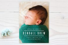 Cheeky Birth Announcements by Lauren Chism at minted.com