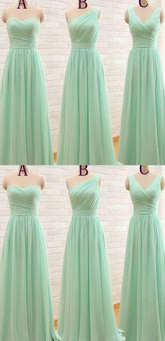 Sage Bridesmaid Dresses, Long Bridesmaid Dresses, A Line dresses, Zipper Bridesmaid Dresses, Ruffles Bridesmaid Dresses, A-line/Princess Bridesmaid Dresses, Sleeveless Bridesmaid Dresses
