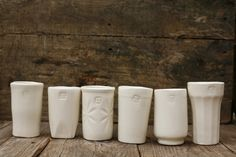 Ceramic drinking vessels
