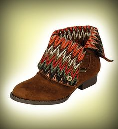 HONEY Equestrian styled boots with tribal inspired inner lining, can be warn folded over and straight up.  Available Colors: Black, Brown, Chestnut.   http://www.sodashoes.com/Shoes.cfm?ProdID=901=0#