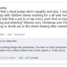 Funny Christmas Facebook Status