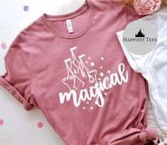 Excited to share this item from my #etsy shop: Magical Disney Shirt | Magic Kingdom Shirt | Disney Womens Shirt| Disney T Shirt | Matching Family Disney Shirts | Disney Vacation Shirt Cute Disney Shirts, Disney Vacation Shirts, Matching Disney Shirts, Disney Shirts For Family, Family Shirts, Disney Clothes, Disney Outfits, Disney Designs, Project Ideas