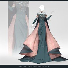 (CLOSED) Adoptable Outfit Auction 322 by JawitReen on DeviantArt - - - - kleider zeichnen Dress Drawing, Drawing Clothes, Fashion Design Drawings, Fashion Sketches, Anime Outfits, Fashion Outfits, Fashion Clothes, Fantasy Gowns, Anime Dress