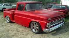 1963 C10 stepside chevy truck. Fire!!!