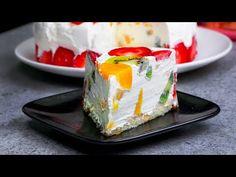 Doar asa se prepara Tortul DIPLOMAT fara coacere! | SavurosTV - YouTube Kiwi, Party Finger Foods, Panna Cotta, Cheesecake, Food And Drink, Ethnic Recipes, Tv, Drinks, Desert Recipes