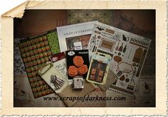 Scraps of Darkness ~ Our October Main Kit. We Have A Winner, Mixed Media Artists, Darkness, October, My Favorite Things, Cheryl, Halloween, Scrapbooking, Crafts