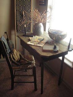 primitive style desk
