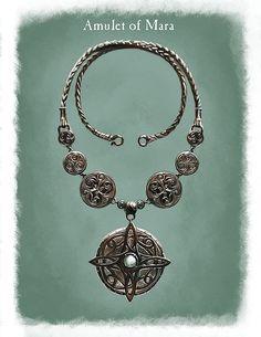 "saveroomminibar: "" The Elder Scrols V: Skyrim. The Many Amulets of Skyrim. Concept Art by Ray Lederer. """