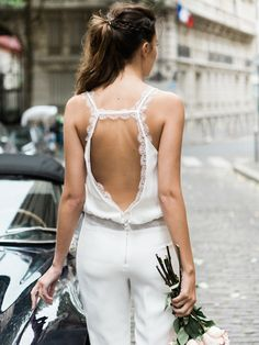 Thinking about wearing a white jumpsuit to your wedding? Here are some gorgeous options to inspire you!