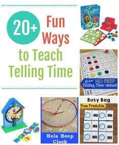 Learning how to tell time is an extremely important skill to teach to every child. They'll be using this skill for the rest of their lives. But it doesn't have to be boring! Check out these resources to keep your learning fun and engaging. Telling Time Games, Busy Bags, Fun Learning, Free Games, Mathematics, Lesson Plans, Free Printables, Classroom, Kids