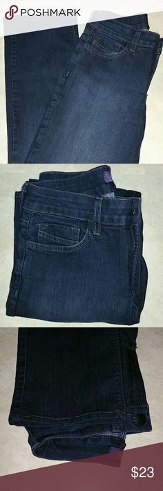 "Not Your Daughters Jeans Straight Leg NYDJ Straight Leg Jeans. Size 0. 29"" inseam. Dark wash. 9"" rise. New, no tags. Super soft. Zipper and button closure. 2 front pockets. 1 hidden pocket. 2 back pockets. Belt loops. NYDJ Jeans Straight Leg"