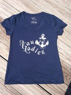Nauti Ladiez Navy Short Sleeve V-Neck