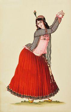 رقصنده | رقصنده، سده ۱۹ترسایی، آبرنگ و گواش بر روی کاغذ، ۱۸.… | Flickr
