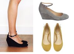 New 1940s Shoes: Wedge, Slingback, Oxford, Peep Toe ❤ liked on ...