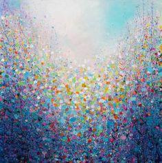 "Artist: Sandy Dooley; Acrylic 2014 Painting ""Garden Mosaic (sold)"""
