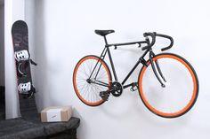 Copenhagen bike rack / wall mounted bike hook / | Etsy Indoor Bike Storage, Bicycle Storage, Bicycle Rack, Bicycle Shop, Bmx Bicycle, Bicycle Wheel, Bike Hooks, Bike Hanger, Wall Hanger