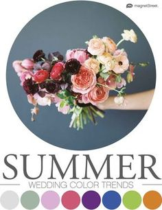 Gorgeous wedding colors for Look through trending wedding color palettes coming up this season, and find the best color schemes for your wedding. Spring Color Palette, Gold Color Palettes, Spring Colors, Popular Wedding Colors, Summer Wedding Colors, 2018 Wedding Trends, Wedding Ideas, Wedding Inspiration, Trends 2018