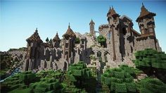 Epic Medieval Castle Minecraft World Save .do you have any idea how long this took this person Minecraft City Buildings, Minecraft Houses Survival, Minecraft Castle, Minecraft Medieval, Minecraft Architecture, How To Play Minecraft, Medieval Castle, Minecraft Bridges, Minecraft Stuff