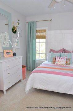 My Favorite Benjamin Moore Paint Colors - Balboa Mist Bedroom Girl Bedroom Designs, Cute Bedroom Ideas, Girls Bedroom, Bedroom Decor, Bedrooms, Room Decor For Teen Girls, Little Girl Rooms, Daughters Room, Dream Rooms