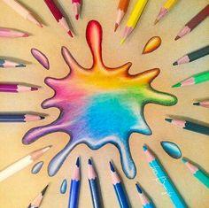 Er is nooit genoeg kleur! Getekend door STABILO artist @thatsjustlaura ✏️ #draw #colorful #stabilonl #pencils #drawing #colors #color #stabilo #rainbow #paper #tekenen #kleurrijk #kleuren #kleur #potloden #art