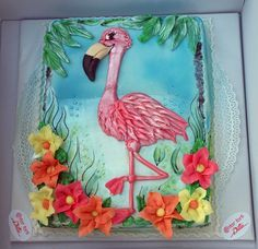 our flamingo cake :)