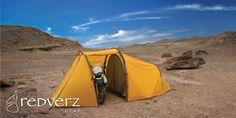 Redverz Gear - Motorcycle Tent. Nomad Motorcycle Expedition Tent...I may need to re think my trips!! :)